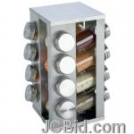 JCBid.com online auction 16-jar-ss-rotating-spice-rack