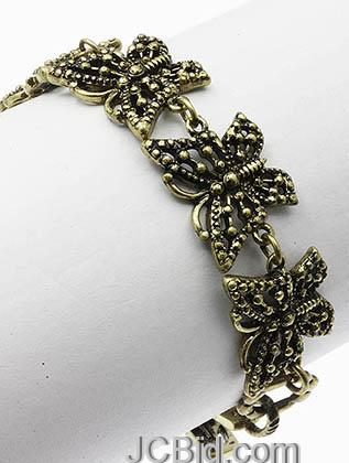 JCBid.com Butterfly-Bracelet-Antique-Golden