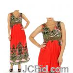 JCBid.com online auction Your-choice-maxi-dress-fuchsia-or-orange