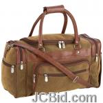 JCBid.com online auction 17inbrown-faux-leather-tote-ba