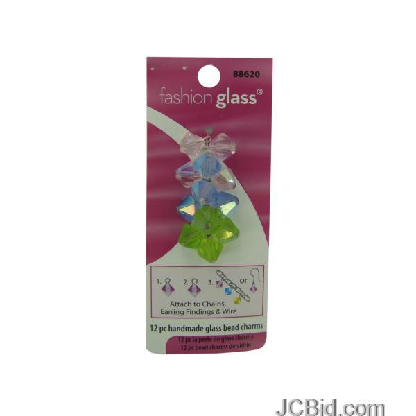 JCBid.com Handmade-Pastel-Glass-Bead-Charms-display-Case-of-216-pieces