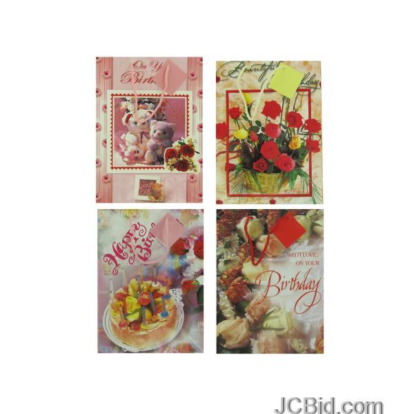 JCBid.com Fancy-Birthday-Gift-Bag-display-Case-of-228-pieces