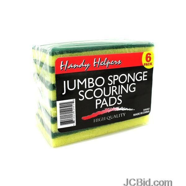 JCBid.com Sponge-Scouring-Pads-display-Case-of-60-pieces