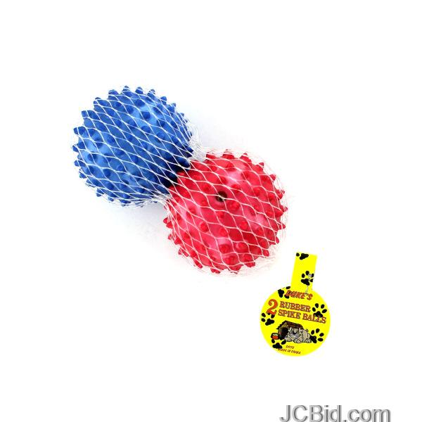 JCBid.com Rubber-Spike-Dog-Balls-display-Case-of-72-pieces