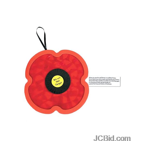 JCBid.com Tissue-Paper-Poppy-Craft-Kit-display-Case-of-348-pieces