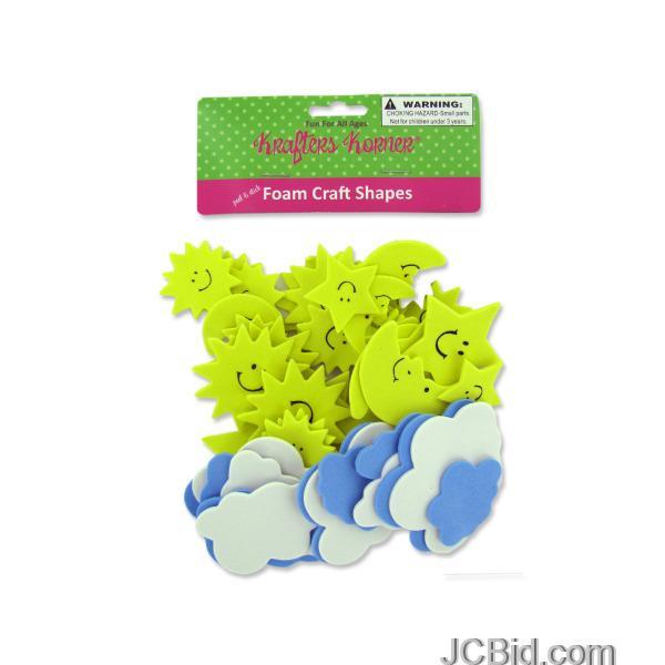 JCBid.com Sky-Foam-Craft-Shapes-display-Case-of-120-pieces