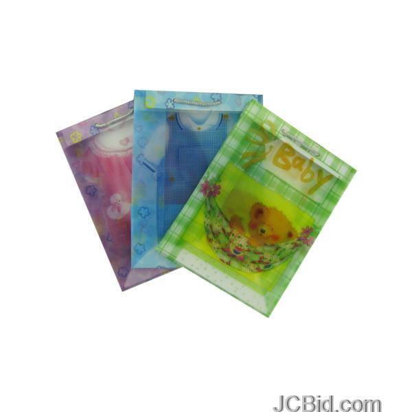 JCBid.com Transparent-Baby-Gift-Bags-display-Case-of-204-pieces