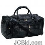 JCBid.com online auction 25in-leather-cowhide-duffle-bg