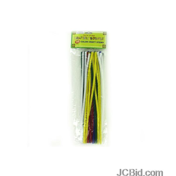 JCBid.com Chenille-Color-Craft-Stems-display-Case-of-108-pieces