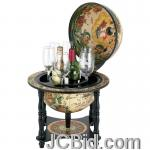 JCBid.com online auction 13in-hand-painted-globe-bar