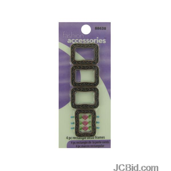 JCBid.com Rectangle-Bead-Frames-for-Crafting-display-Case-of-204-pieces