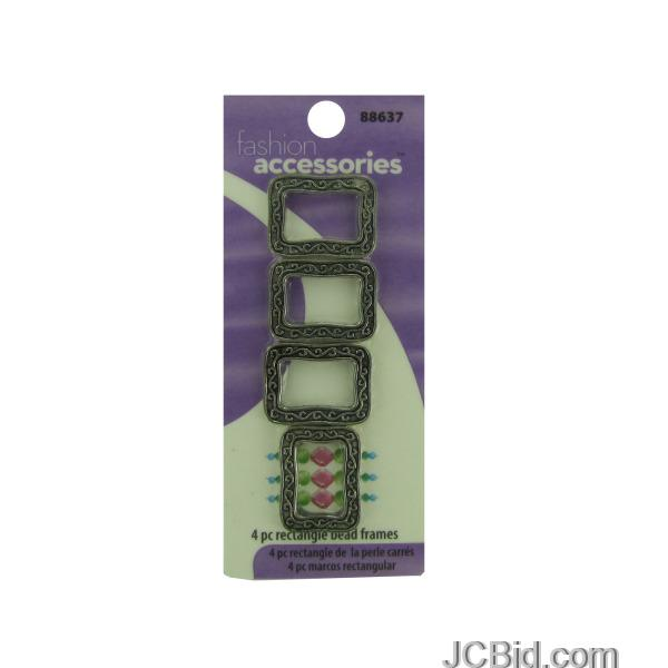 JCBid.com Metal-Rectangle-Bead-Frames-display-Case-of-204-pieces