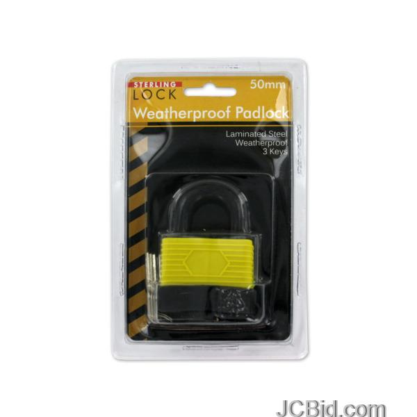 JCBid.com Laminated-Weatherproof-Padlock-with-Keys-display-Case-of-24-pieces
