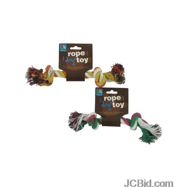 JCBid.com Multi-Color-Knotted-Rope-Dog-Toy-display-Case-of-108-pieces