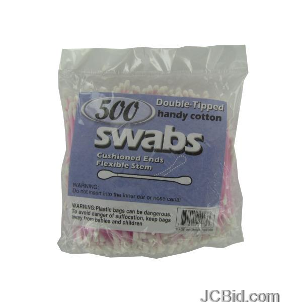JCBid.com Double-Tipped-Cotton-Swabs-display-Case-of-72-pieces