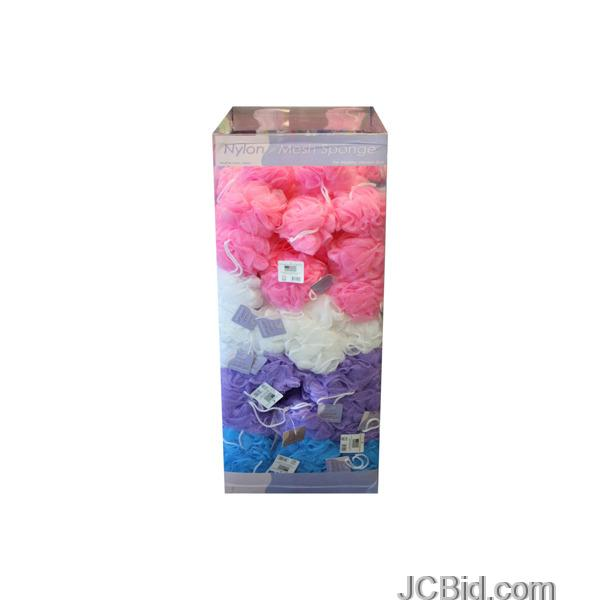 JCBid.com Exfoliating-Bath-Sponge-Floor-Display-display-Case-of-144-pieces
