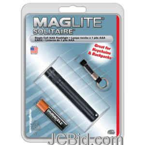JCBid.com Solitaire-Blister-Pack-Black-MAGLITE-Model-K3A016