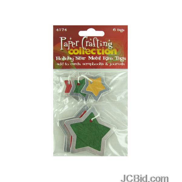 JCBid.com Star-Metal-Rim-Tags-display-Case-of-180-pieces