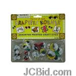 JCBid.com online auction Colored-wiggly-printed-craft-eyes-display-case-of-84-pieces