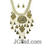 JCBid.com Chunky-Bib-Style-necklace-set-Gold-tone