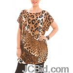 JCBid.com Loose-Top-with-Leopard-Print-Brown