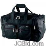 JCBid.com online auction 19-buffalo-leather-bag-embassy-italian-stone-design-19-genuine-buffalo-leather-tote-bag