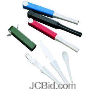 JCBid.com SnacPac-Knife-Fork-Spoon-All-Black-BOKER-Model-800-PBK