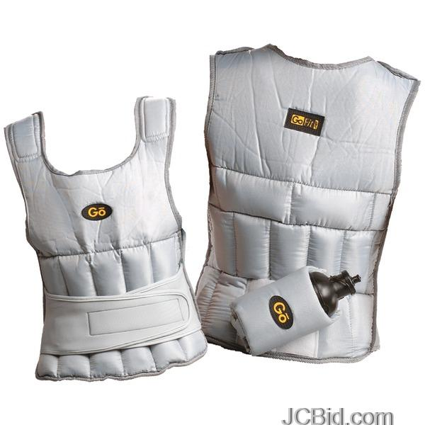 JCBid.com GOFIT-GF-WV10-10-LB-UNISEX-ADJUSTABLE-WEIGHTED-VEST