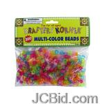 JCBid.com online auction Multi-color-crafting-pony-beads-display-case-of-84-pieces