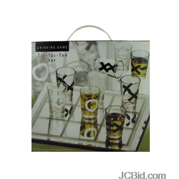 JCBid.com Tic-Tac-Toe-Drinking-Game-display-Case-of-12-pieces