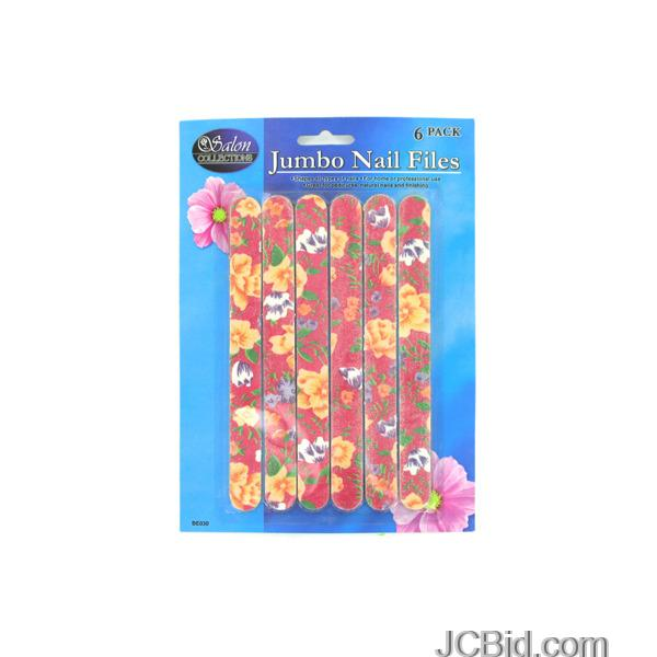 JCBid.com Emery-Board-Set-With-Flower-Design-Case-of-108-pieces