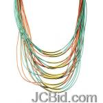 JCBid.com Multi-Layered-Necklace-GreenRed