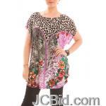 JCBid.com Loose-Top-with-Cheetah-Print-Black