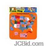 JCBid.com USA-Foam-Map-Set-display-Case-of-60-pieces