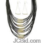 JCBid.com Multi-layer-Cord-Necklace-set-Dull-Golden