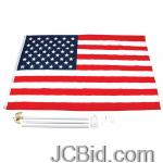 JCBid.com online auction 3-x-5-usa-flag-kit-w-pole