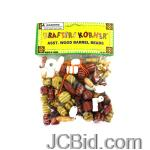 JCBid.com online auction Wood-barrel-beads-with-string-display-case-of-108-pieces
