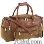 JCBid.com online auction 17brown-faux-leather-tote-bag