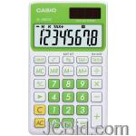 JCBid.com CASIO-SL300VCGNSIH-SOLAR-WALLET-CALCULATOR-WITH-8-DIGIT-DISPLAY-GREEN