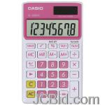 JCBid.com online auction Casio-sl300vcpksih-solar-wallet-calculator-with-8-digit-display-pink