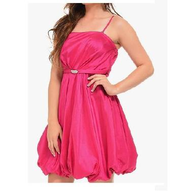 JCBid.com Party-dress-in-Pink-with-Shiny-buckle-Large-size-only