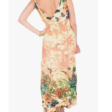 JCBid.com Butterfly-Print-Maxi-dress