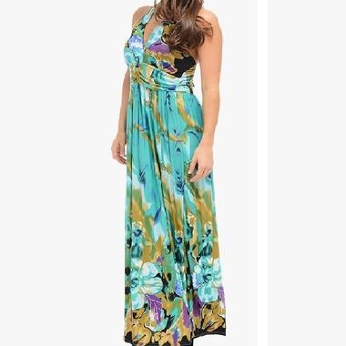 JCBid.com Halter-Top-Green-Maxi-dress