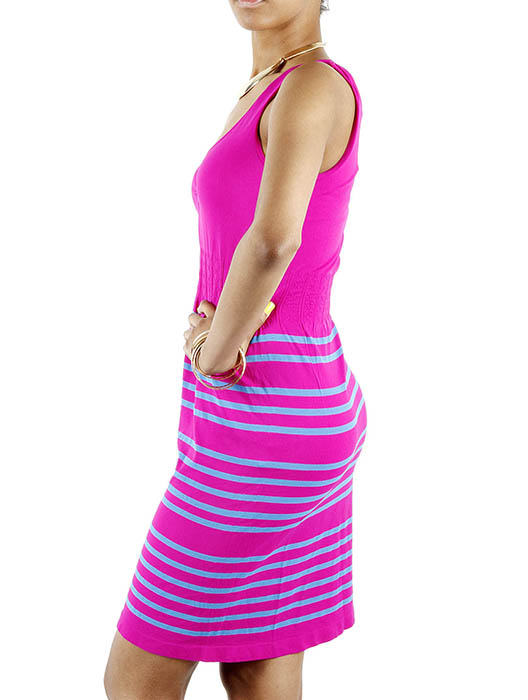 JCBid.com Nice-Tank-top-with-stripes-in-Fuschia-color