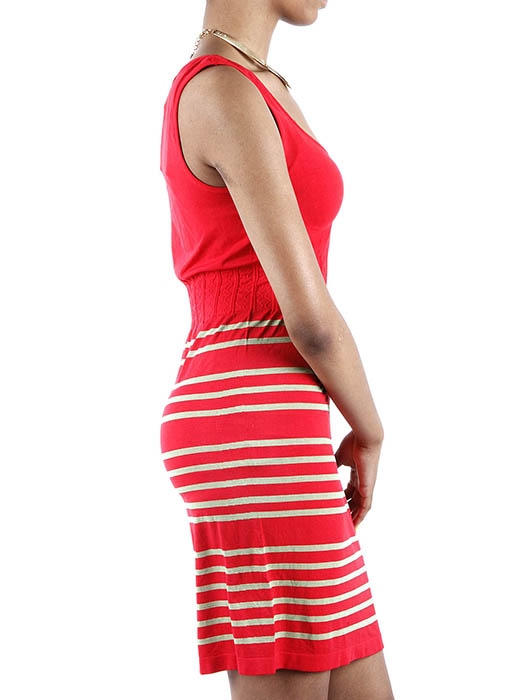 JCBid.com Tank-top-with-stripes-in-Red-color