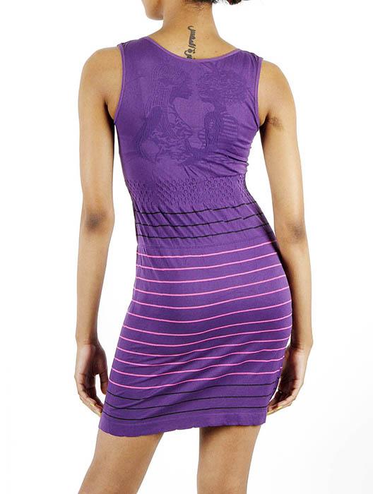 JCBid.com Tank-Top-one-piece-dress-with-stripes-Purple