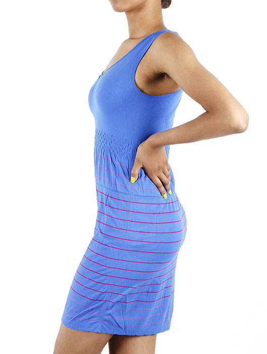 JCBid.com Tank-top-with-stripes-in-Blue-color