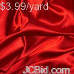 JCBid.com 3-Yards-of-Satin-Fabric-60-W-red-Just-379-Yard