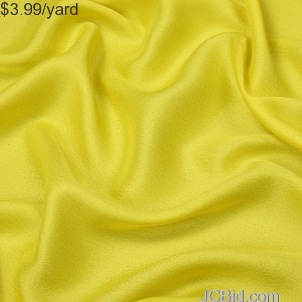 JCBid.com 3-Yards-of-Satin-Fabric-60-W-Yellow-Just-379-Yard