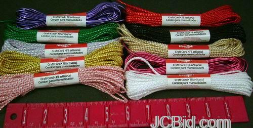 JCBid.com 120-Hanks-Needloft-10-Yards-Craft-Cord-Assorted-Colors